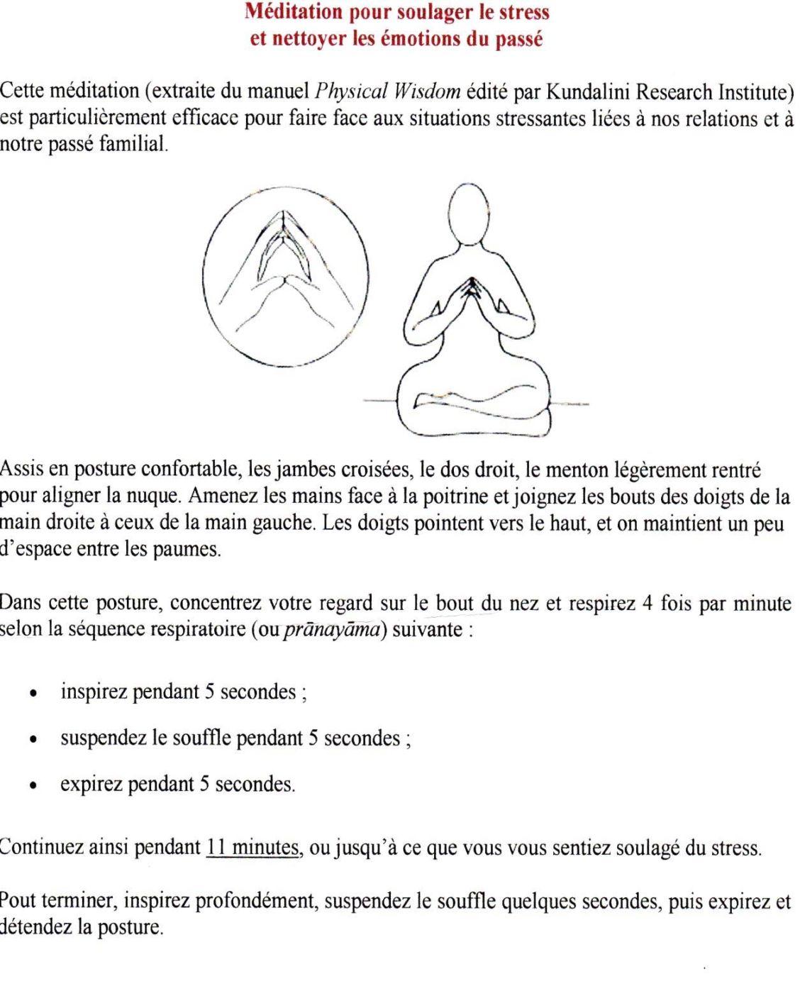 meditation pour soulager le stress